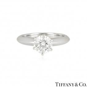 Tiffany & Co. Platinum Diamond Setting Ring 1.03ct G/VS2 XXX